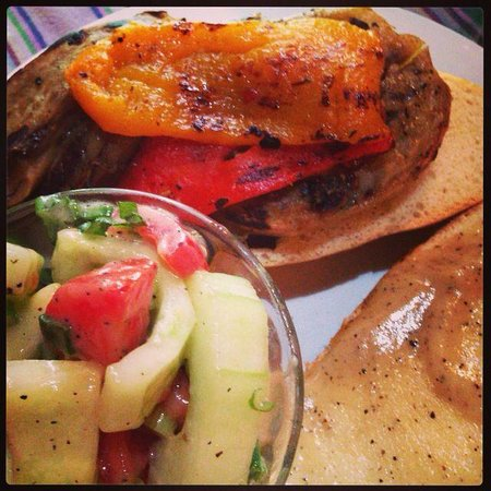 Cafe Condesa: Roasted eggplant & peppers