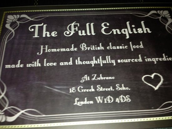 The Full English: allez leur rendre visite