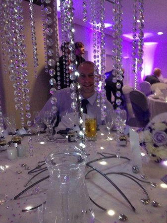 Mercure Gloucester, Bowden Hall Hotel: Having fun at the wedding breakfast in the Lakeside Suite