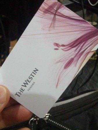 The Westin Panama: Room Key