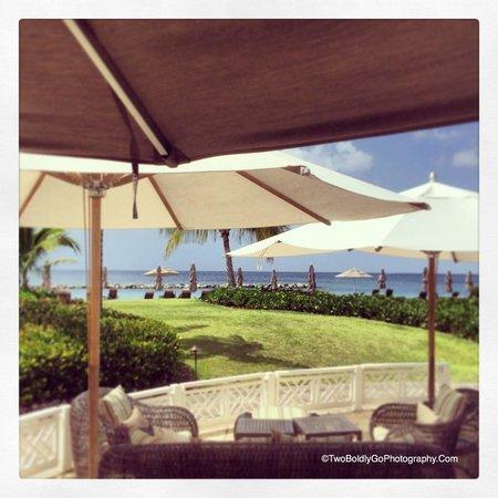 Four Seasons Resort Nevis, West Indies: Umbrella Seating at Cabana