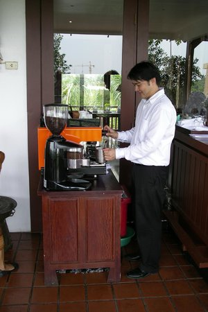 Green Park Boutique Hotel: best latte in Laos