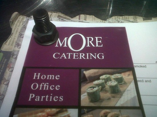 MORE Cafe: The menu is bolted together