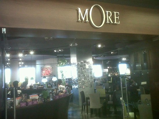 MORE Cafe: The entrance from the Opera Galleria mall