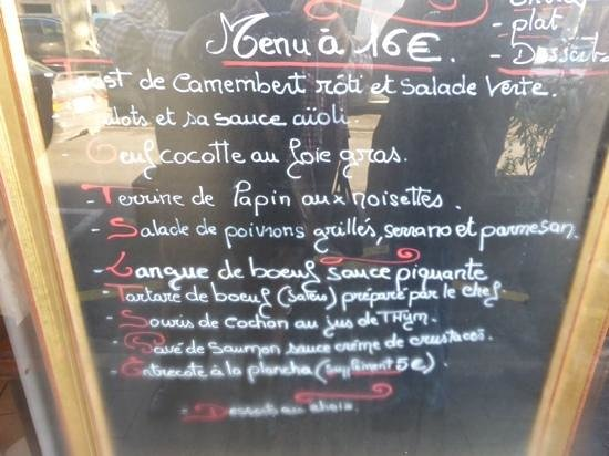 La Galerie : menu a 16 euros