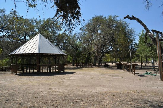 Mayan Dude Ranch: Gazebo Eating Area on River