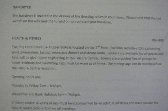 City Hotel : Hotel Information
