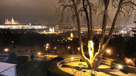 Nebozizek : View of Prague Hradcany Castle from the Room