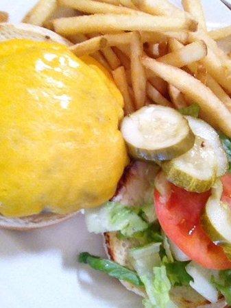 CJ's Steak & Seafood: Cheeseburger and fries