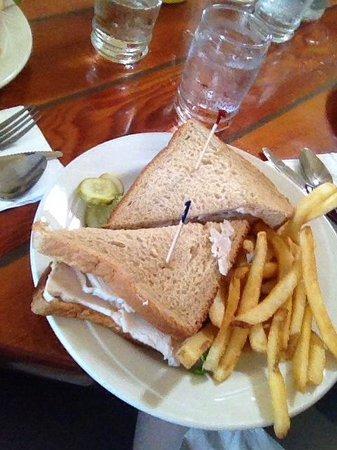 CJ's Steak & Seafood: Turkey sandwich