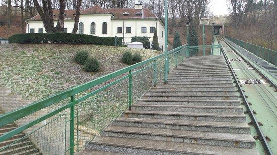 Nebozizek : Petrin Funicular close to the Hotel