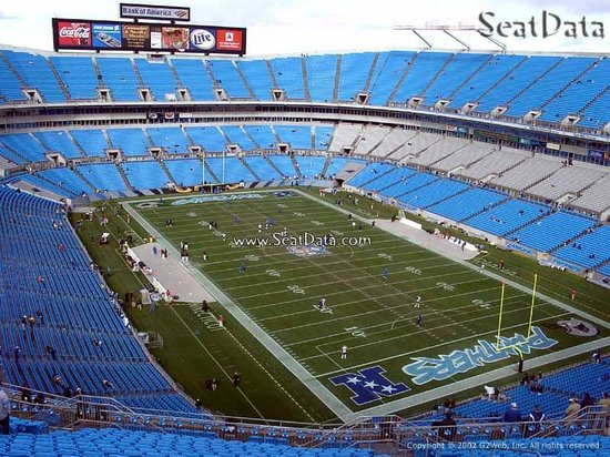 The Bank of America Stadium: Our Seats: Section 533 Row 14 Seats 8 & 9