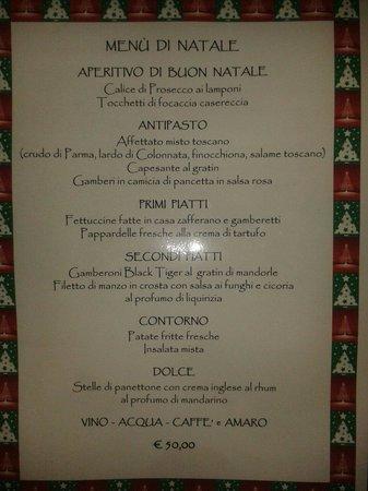 Menu Di Natale Milano.Il Nostro Menu Di Natale Foto Di Trattoria Al Toscanaccio