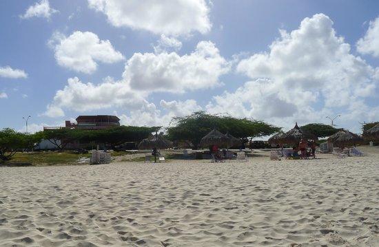 Paradise Beach Villas: the Beach looking at the hotel