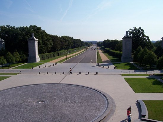 Women in Military Service for America Memorial : View from the upper terrace 1