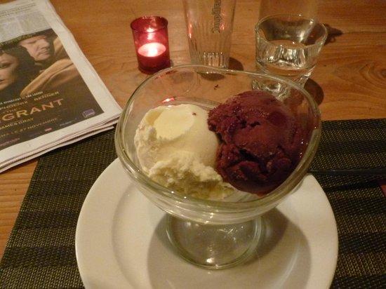 La Table a Raclette : La glace