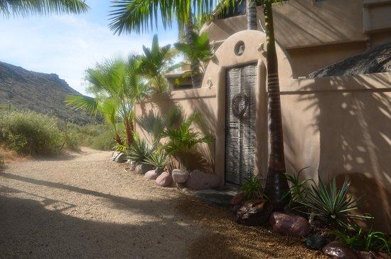 Los Colibris Casitas: Path to the beach