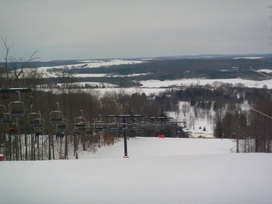 The Inn at the Peak: Top of main lift