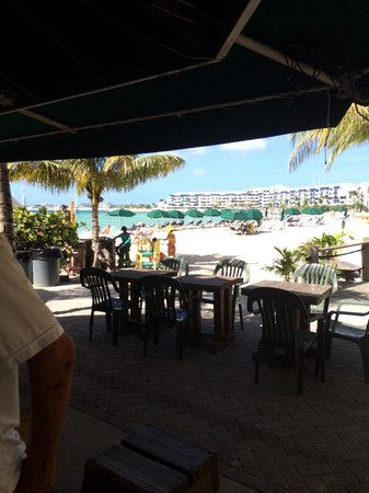 Buccaneer Beach Bar: View from the bar.