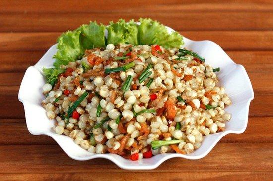Fried corn with dried shrimp: fotografía de Island Soup & Grill ...