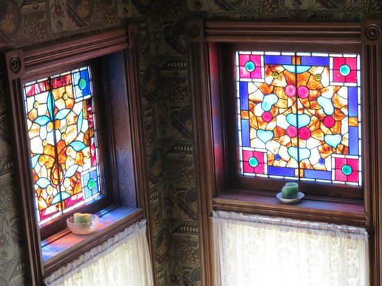 Stained Glass in Comstock House.