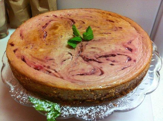 The Wooden Spoon Bistro: Raspberry cheesecake