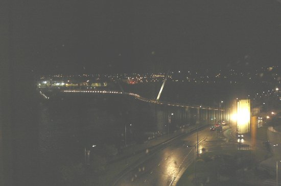Peace Bridge at night from our hotel