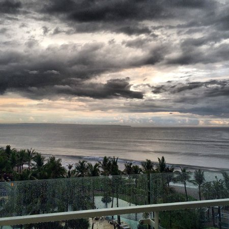 W Bali - Seminyak: Couldn't resist an artistic shot of the clouds from the balcony