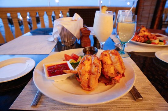 Solana: Grilled lobster tails