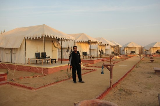 Chokhi Dhani Desert C& chain of tents & chain of tents - Picture of Chokhi Dhani Desert Camp Jaisalmer ...