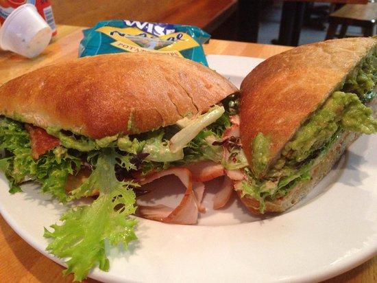 Hatch Sandwich Bar : Turkey Avocado Sandwhich