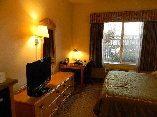 Holiday Inn Express Rocklin - Galleria Area: TV, corner desk, window view