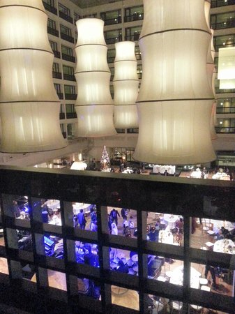 Cinnamon Grand Colombo: Wedding at downstairs' restaurant viewed from the 5th floor