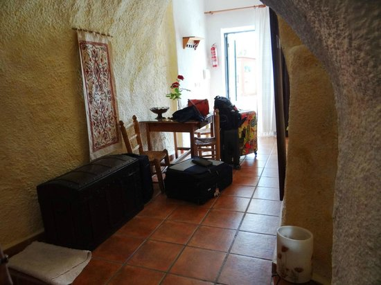 Cuevas El Abanico: View from sitting area