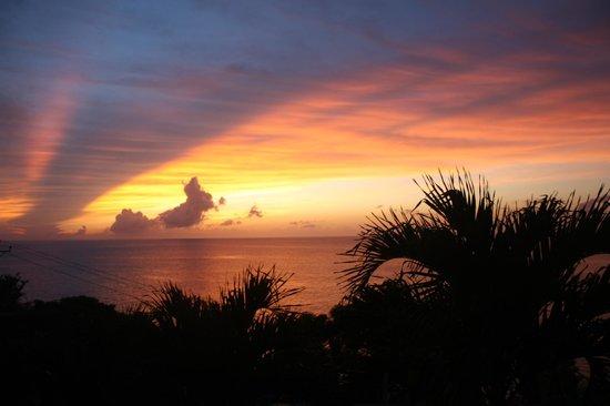 Castara Retreats: Sunset from The Studio