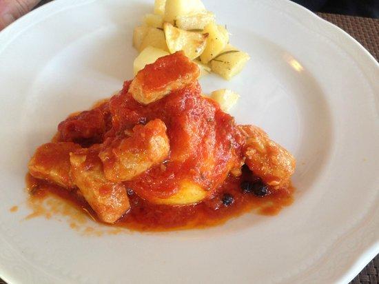 San Benedetto: polenta con spezzatino di carne