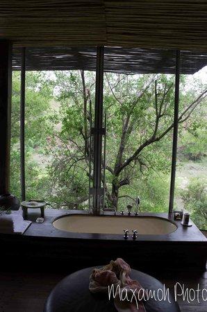 Singita Sweni Lodge : Bathtub