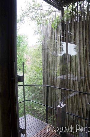 Singita Sweni Lodge : Outdoor Shower