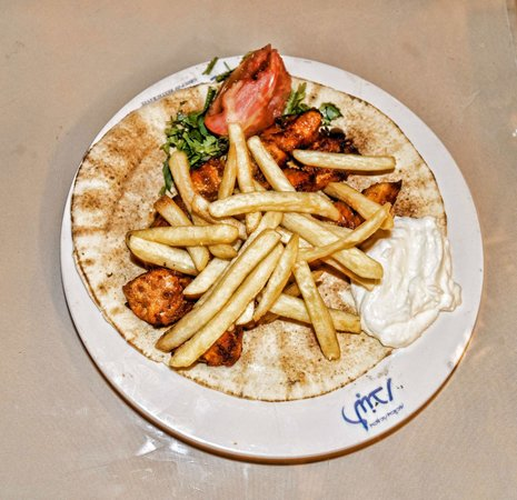 Al Bandar Fish Market: The shawarma dish