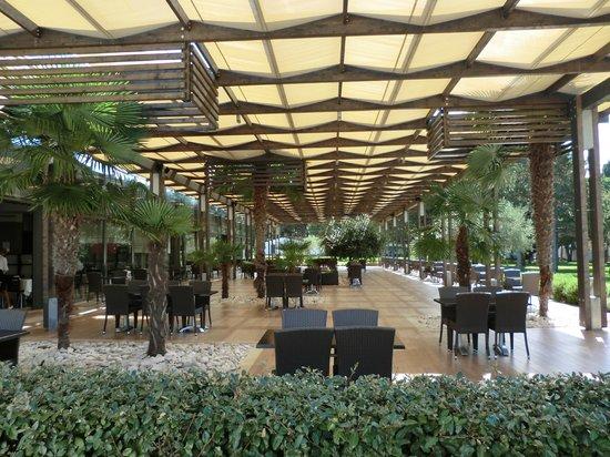 Hotel Laguna Materada: buiten terras
