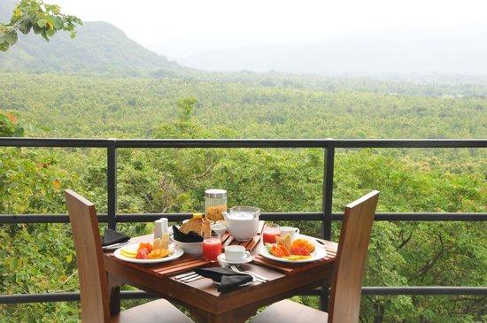 Dambale Resort: Breakfast view over the teak estate