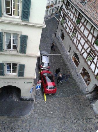 Bern Backpackers - Hotel Glocke: aus dem Fenster