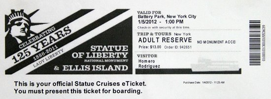 Statue Cruises: Ticket prioridade
