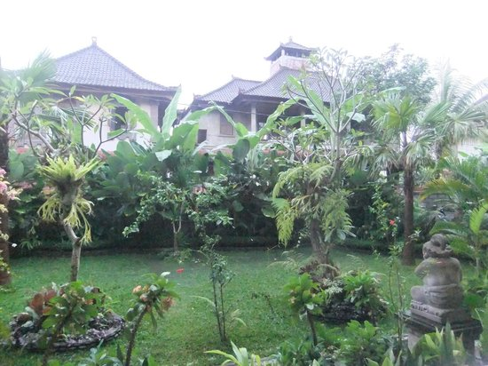 Tanah Semujan Ubud : The view that overlooks our porch where we eat brekkie