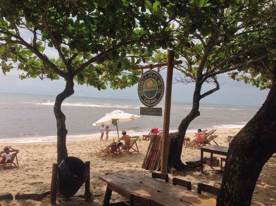 Aquarela Praia: Vista para o mar.