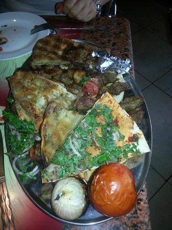 Lebanese Flower: Meat combo for two !! :)