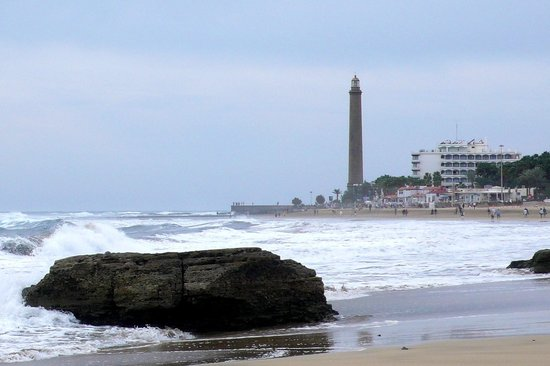 IFA Faro Hotel : IFA Faro Maspalomas, aus Strandsicht