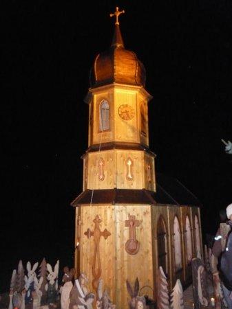 Fraueninsel: Il campanile illuminato della Chiesa conventuale