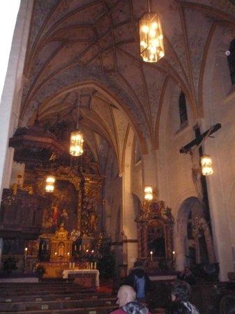 Fraueninsel: particolare dell'interno della Chiesa conventuale