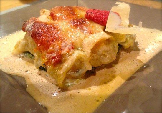 Auberge des Trois J : Cannelloni de langoustines et parmesan